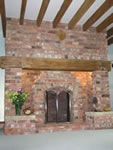 Examples of fireplaces built by Fleetman Construction, new houses in Lincoln and Newark