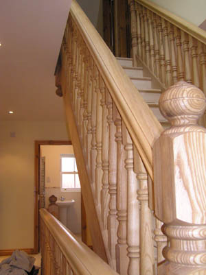 Hardwood spindles and Stairs in Newark & Lincoln area