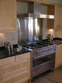 LPG cookers fitted by our plumbing & heating Division in Nottingham & Lincoln