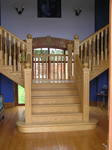 Purpose made joinery in Lincoln & Newark including hardwood stairs